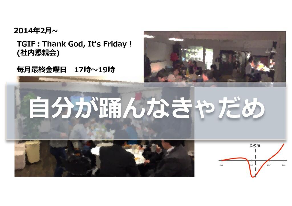 2014年2⽉~ この頃 TGIF︓Thank God, It's Friday ! (社内懇...