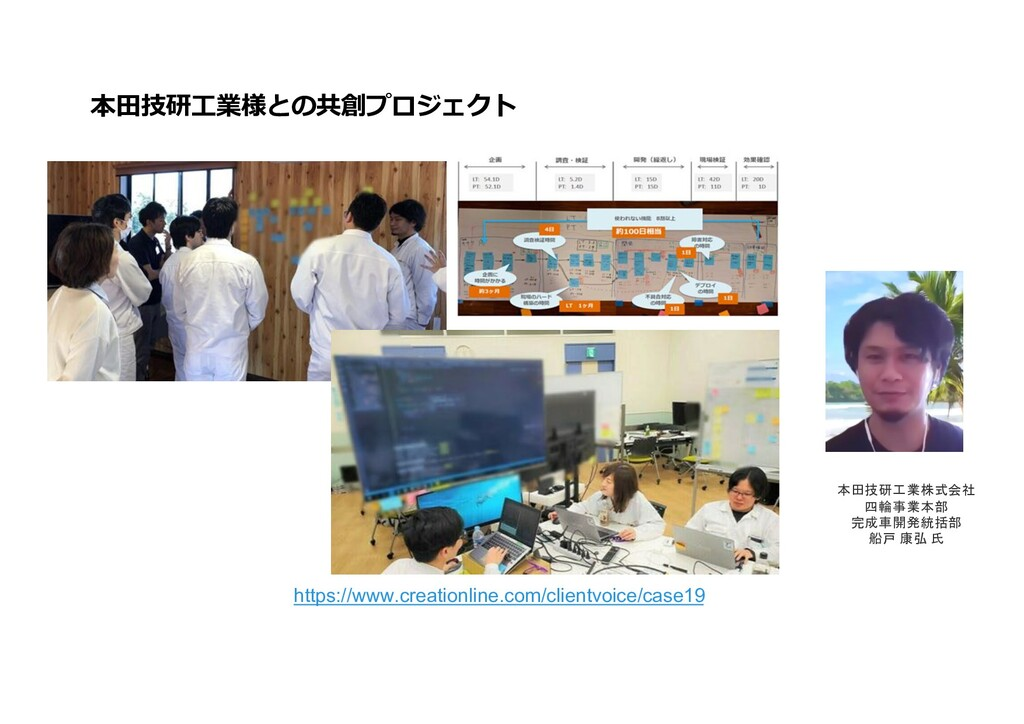 本⽥技研⼯業様との共創プロジェクト https://www.creationline.com/...