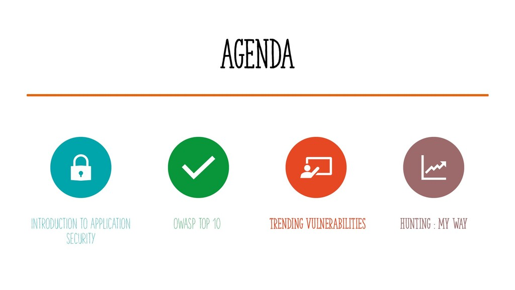 AGENDA INTRODUCTION TO APPLICATION SECURITY OWA...