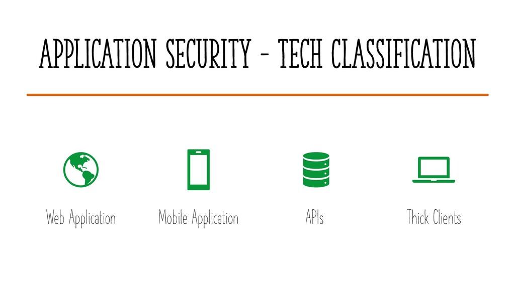 Application Security – Tech Classification Web ...