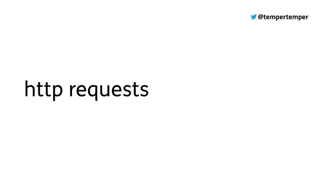 @tempertemper http requests