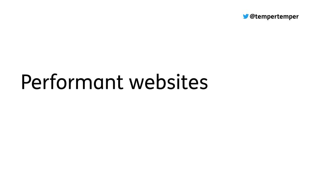 @tempertemper Performant websites