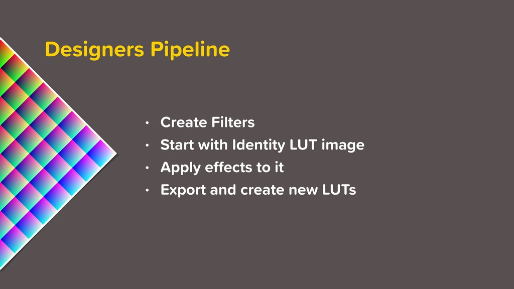 Designers Pipeline • Create Filters • Start wit...