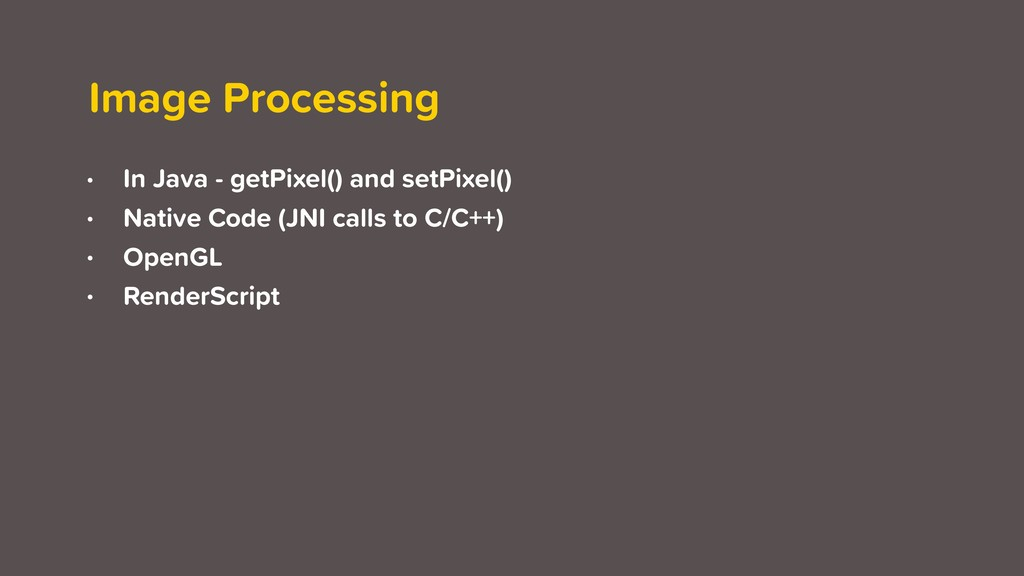 Image Processing • In Java - getPixel() and set...
