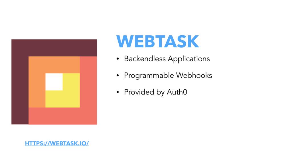 WEBTASK • Backendless Applications • Programmab...