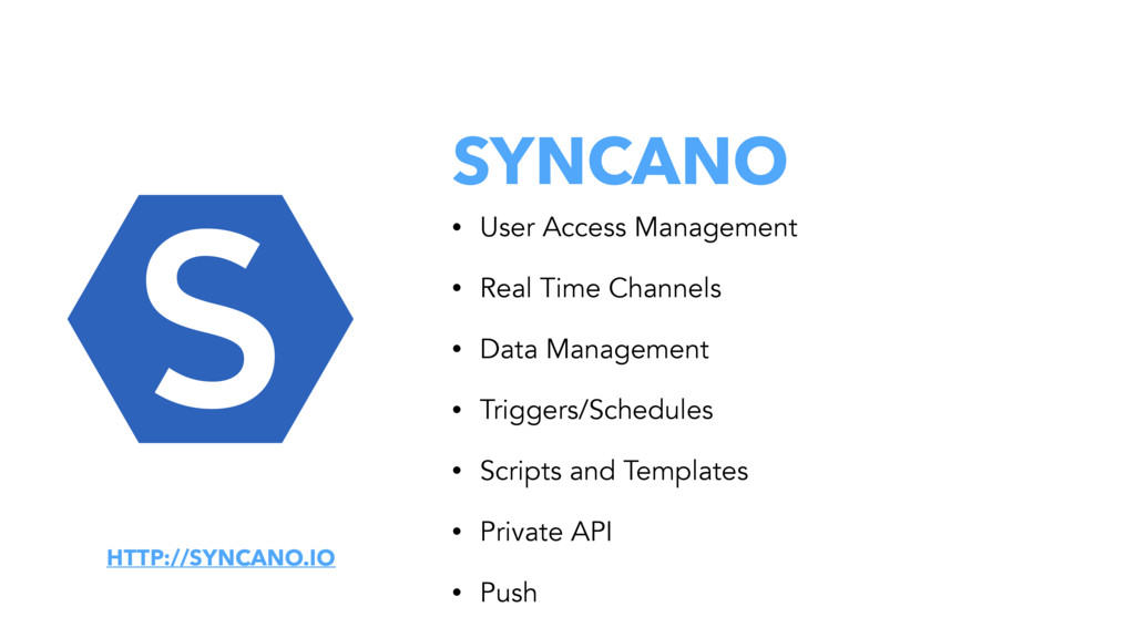 SYNCANO • User Access Management • Real Time Ch...