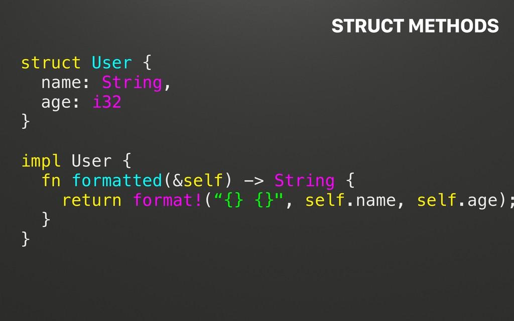 @terhechte struct User { name: String, age: i32...