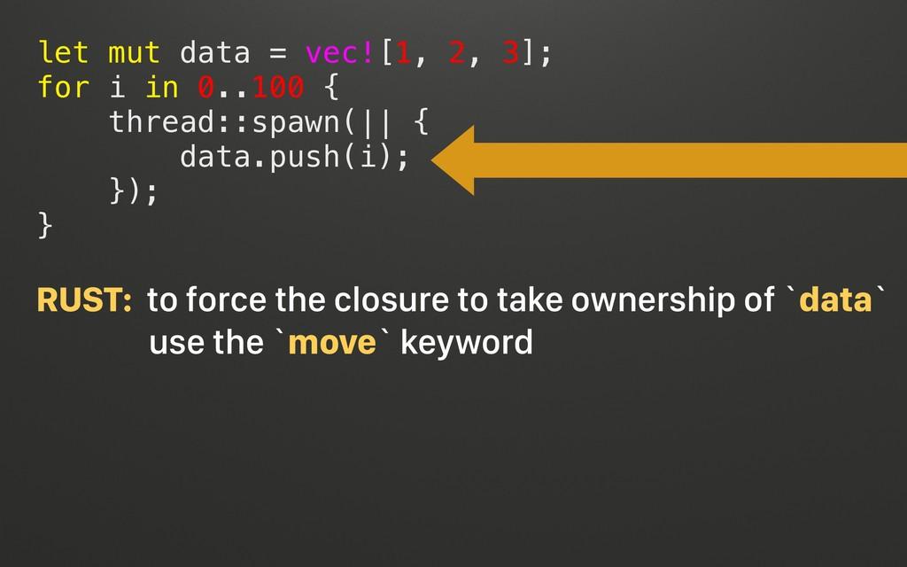 @terhechte let mut data = vec![1, 2, 3]; for i ...