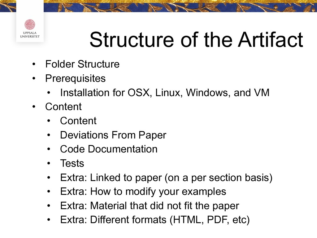 Structure of the Artifact • Folder Structure • ...