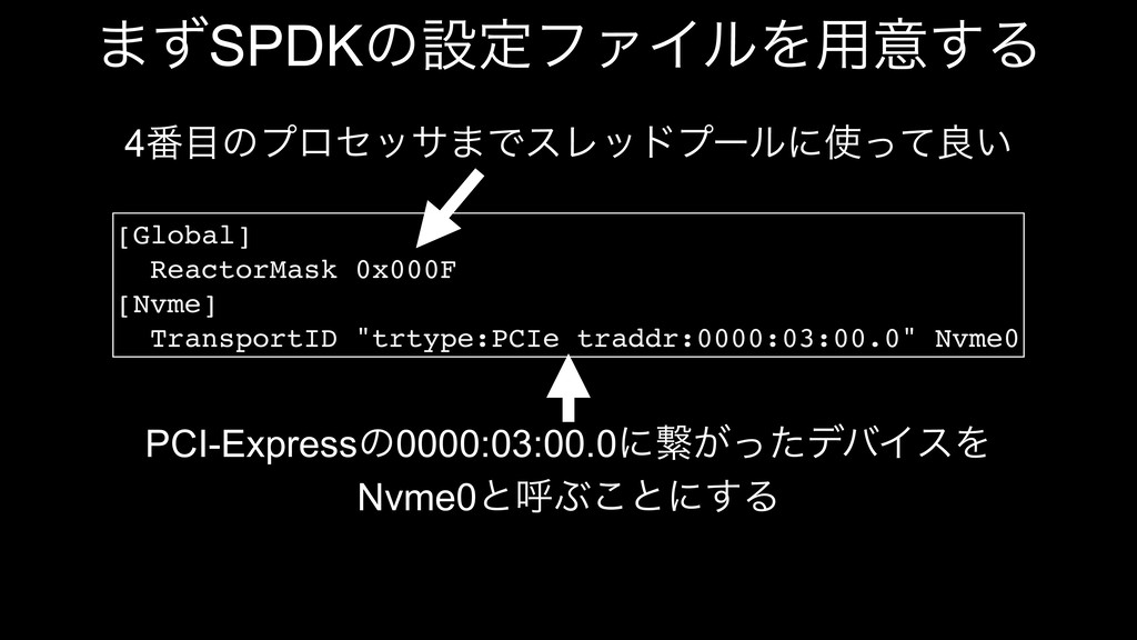 [Global] ReactorMask 0x000F [Nvme] TransportID ...