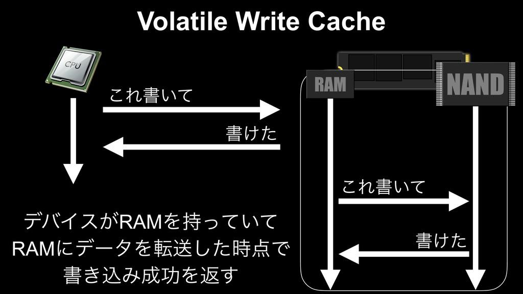 Volatile Write Cache ͜Εॻ͍ͯ ॻ͚ͨ ͜Εॻ͍ͯ ॻ͚ͨ σόΠε͕R...