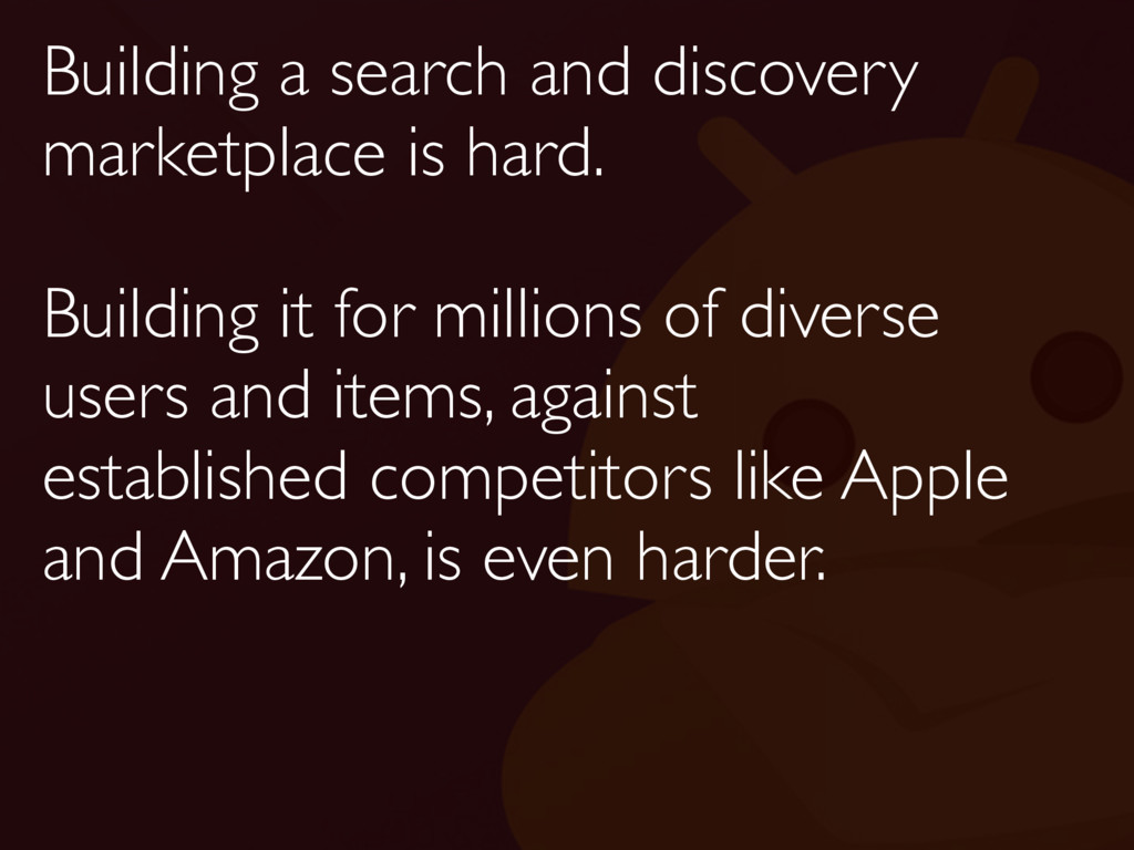 Building a search and discovery marketplace is ...