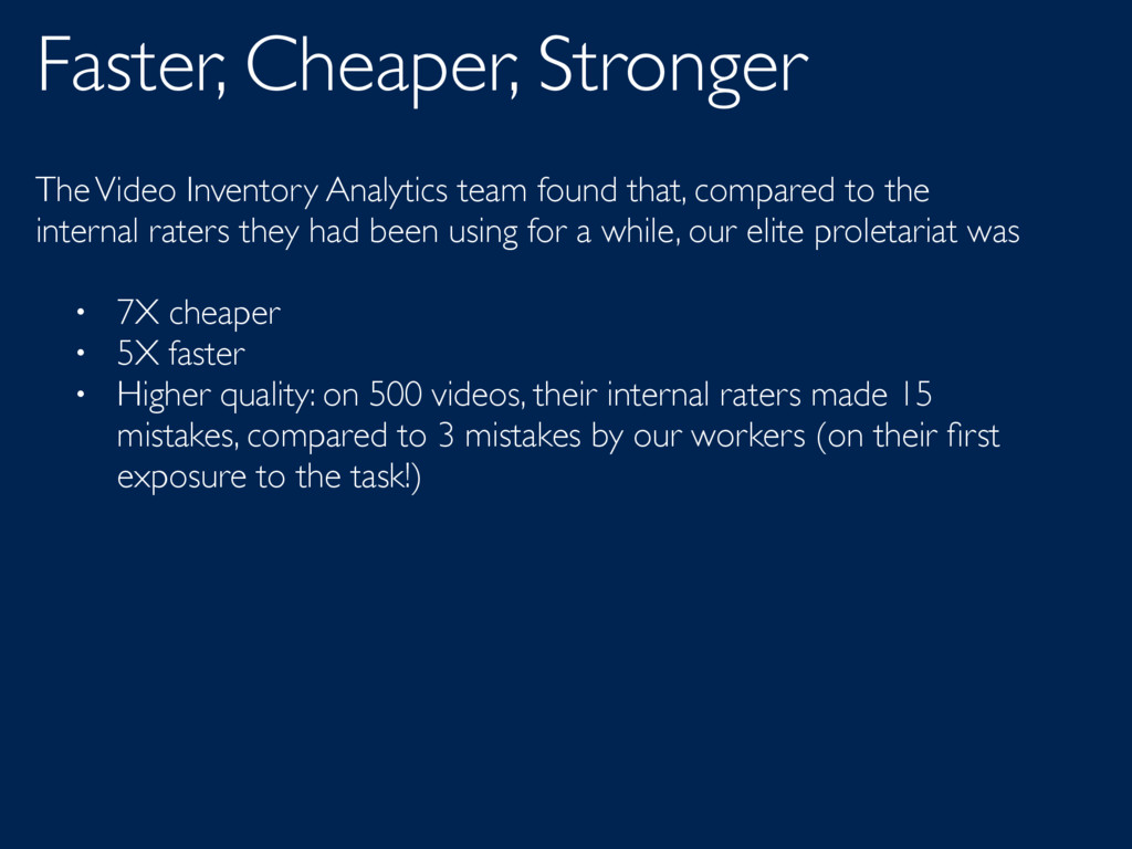 Faster, Cheaper, Stronger The Video Inventory A...