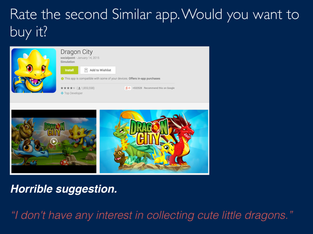 Rate the second Similar app. Would you want to ...