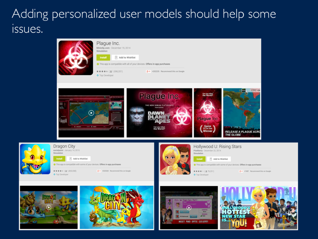 Adding personalized user models should help som...