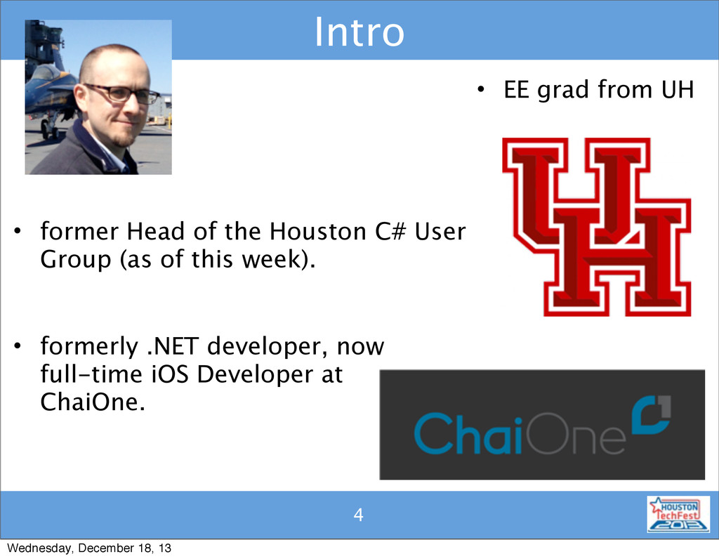 4 Intro 4 • EE grad from UH • former Head of th...