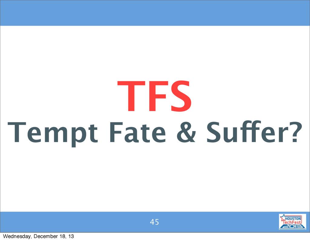 45 45 TFS Tempt Fate & Suffer? Wednesday, Decem...
