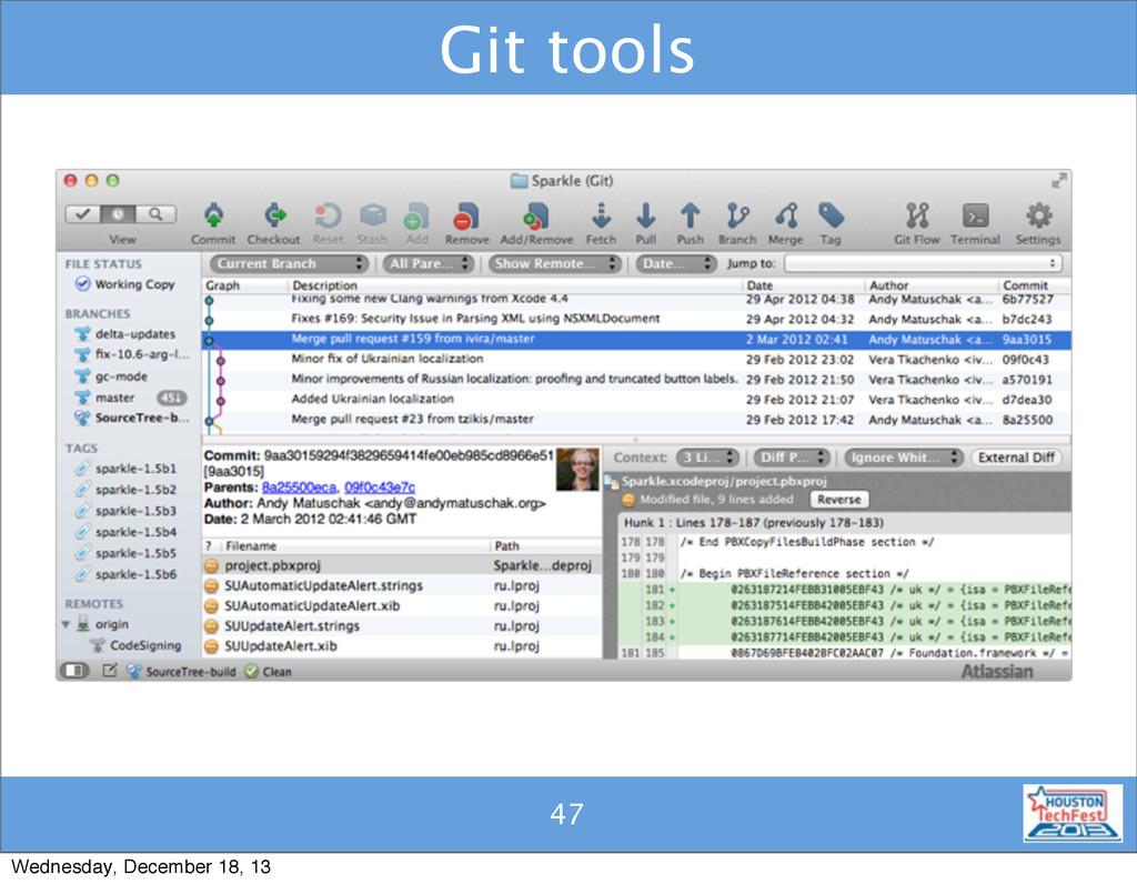 47 Git tools 47 Wednesday, December 18, 13