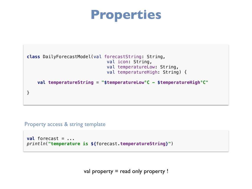 Properties class DailyForecastModel(val forecas...
