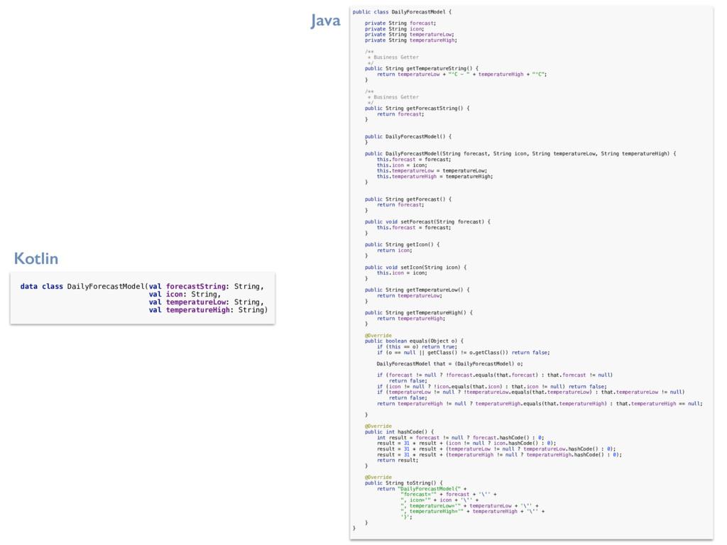 data class DailyForecastModel(val forecastStrin...
