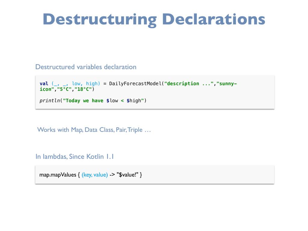 Destructuring Declarations In lambdas, Since Ko...