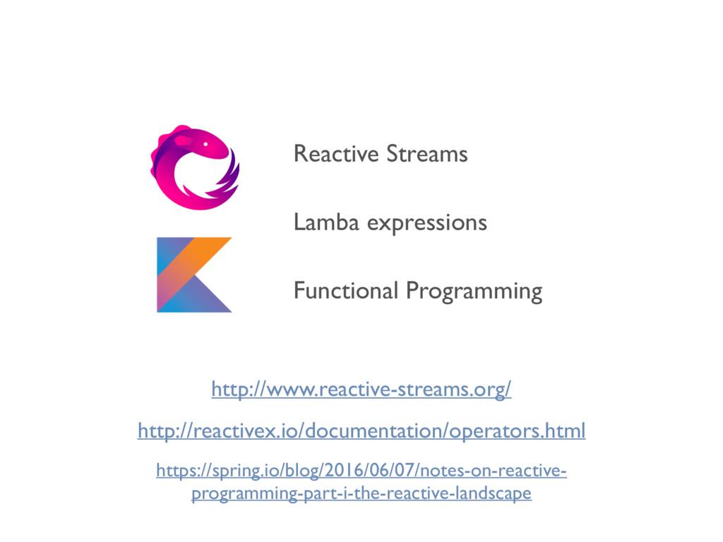 Lamba expressions Functional Programming Reacti...