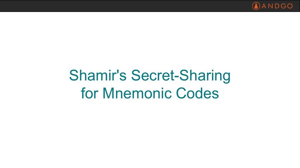 Shamir's Secret-Sharing for Mnemonic Codes