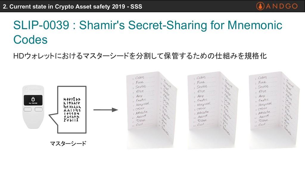 SLIP-0039 : Shamir's Secret-Sharing for Mnemoni...