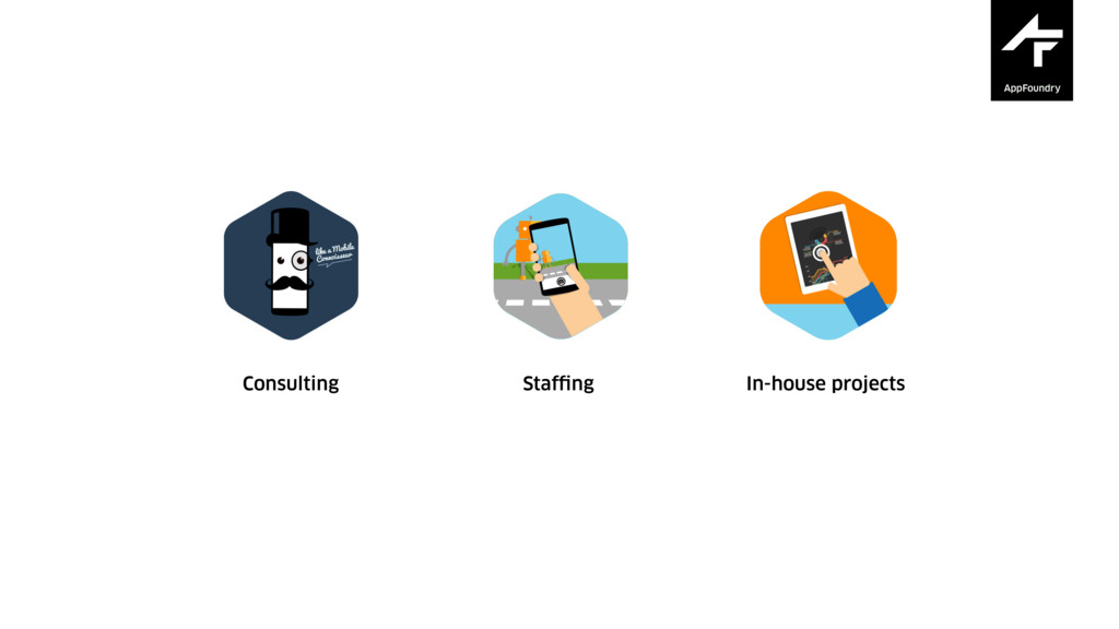 About us Consulting Staffing In-house projects