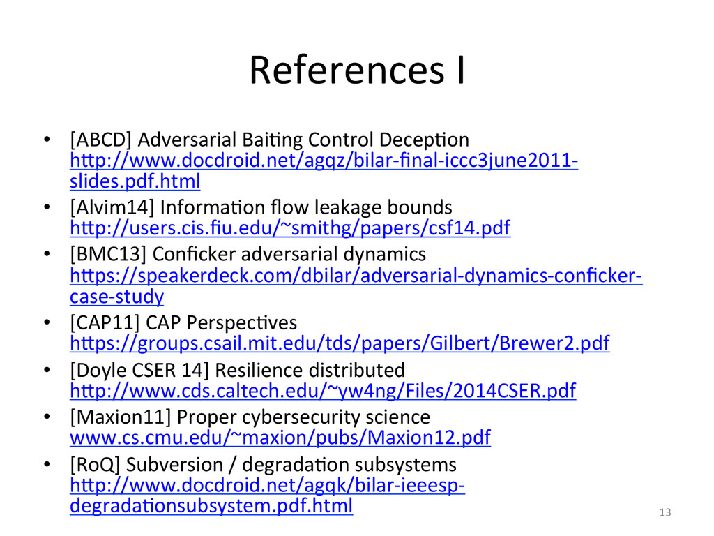 References'I' •  [ABCD]'Adversarial'Bai2ng'Cont...