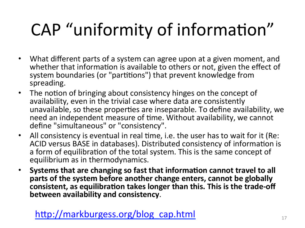 "CAP'""uniformity'of'informa2on""' •  What'differen..."