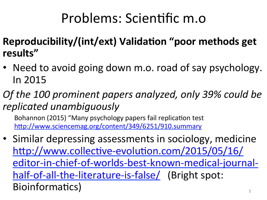 Problems:'Scien2fic'm.o' Reproducibility/(int/ex...
