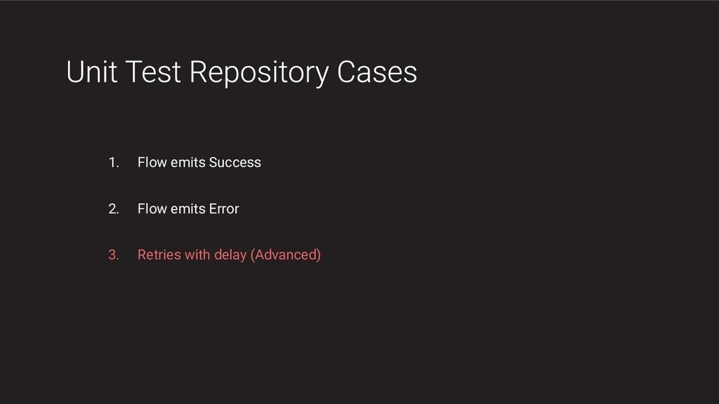1. Flow emits Success 2. Flow emits Error 3. Re...
