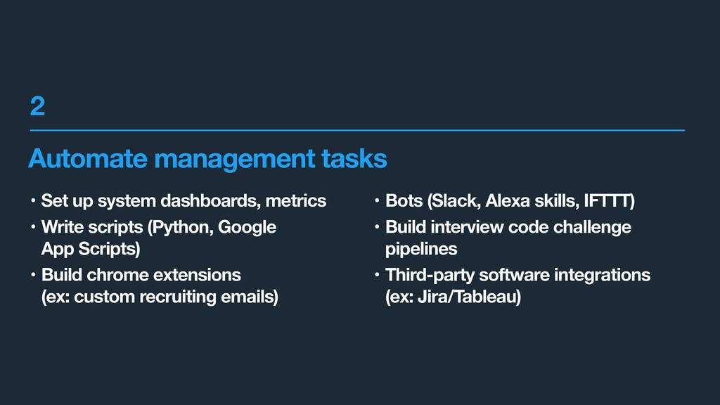 Automate management tasks • Set up system dashb...