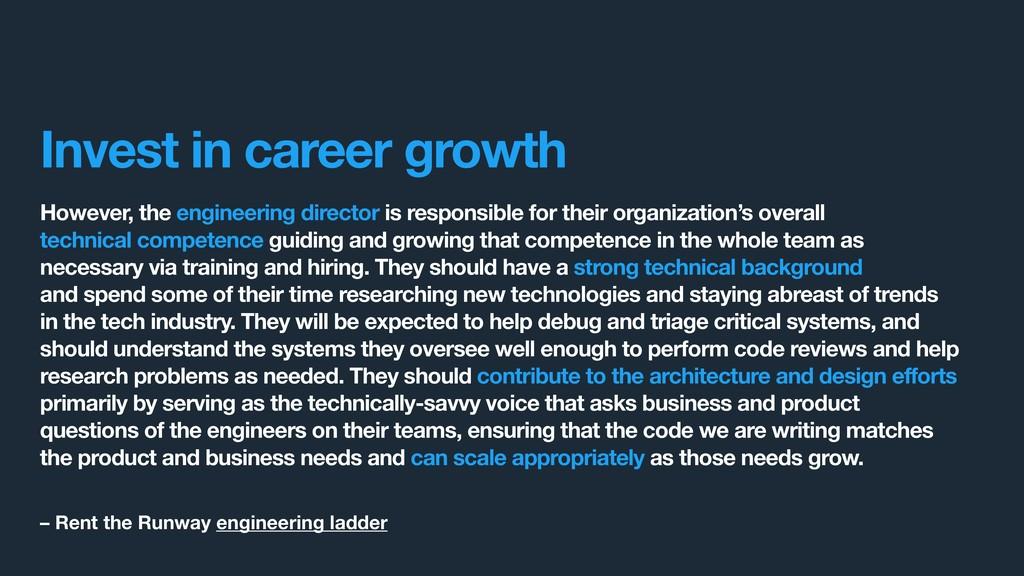 However, the engineering director is responsibl...