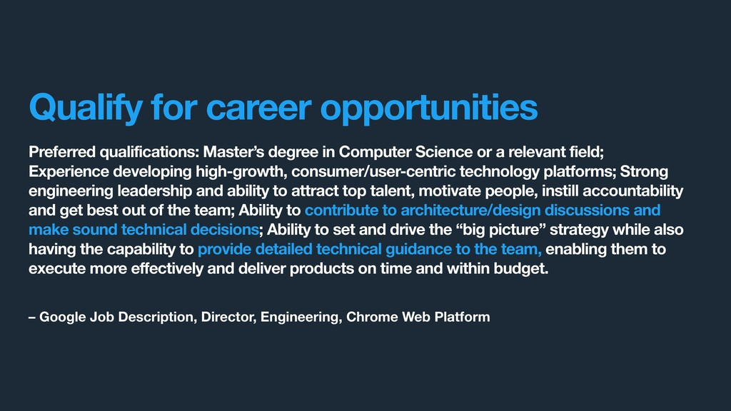 Preferred qualifications: Master's degree in Co...
