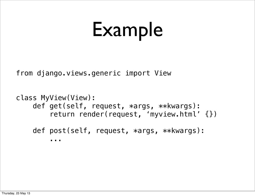 Example from django.views.generic import View c...