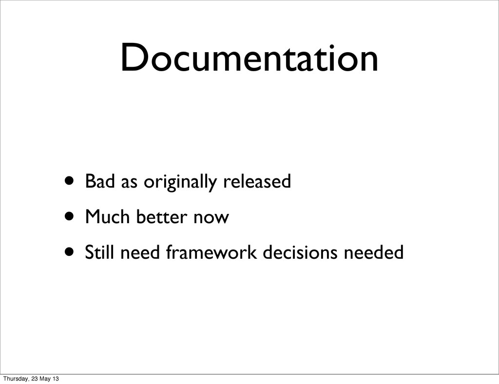 Documentation • Bad as originally released • Mu...
