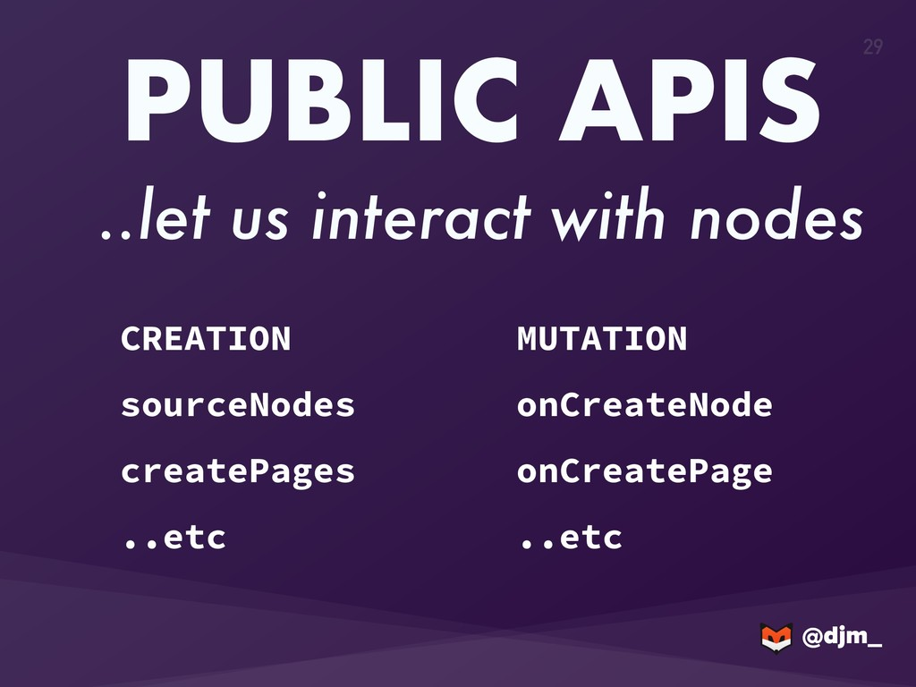 @djm_ @djm_ 29 PUBLIC APIS ..let us interact wi...