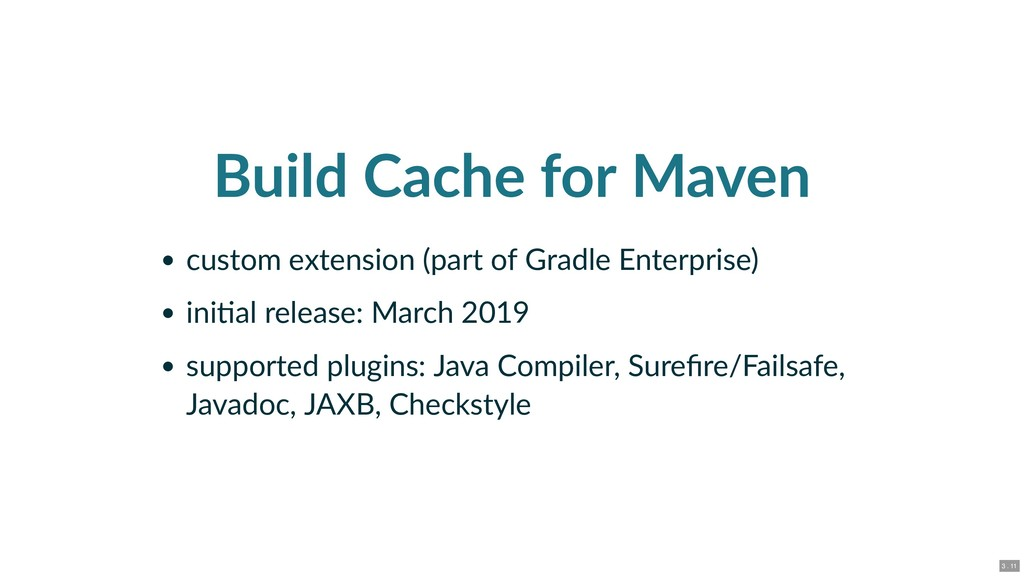 Build Cache for Maven custom extension (part of...