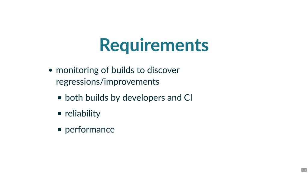 Requirements monitoring of builds to discover r...