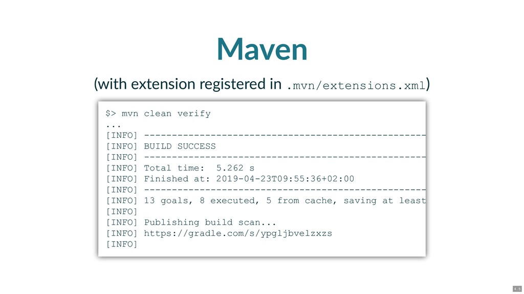 Maven (with extension registered in .mvn/extens...