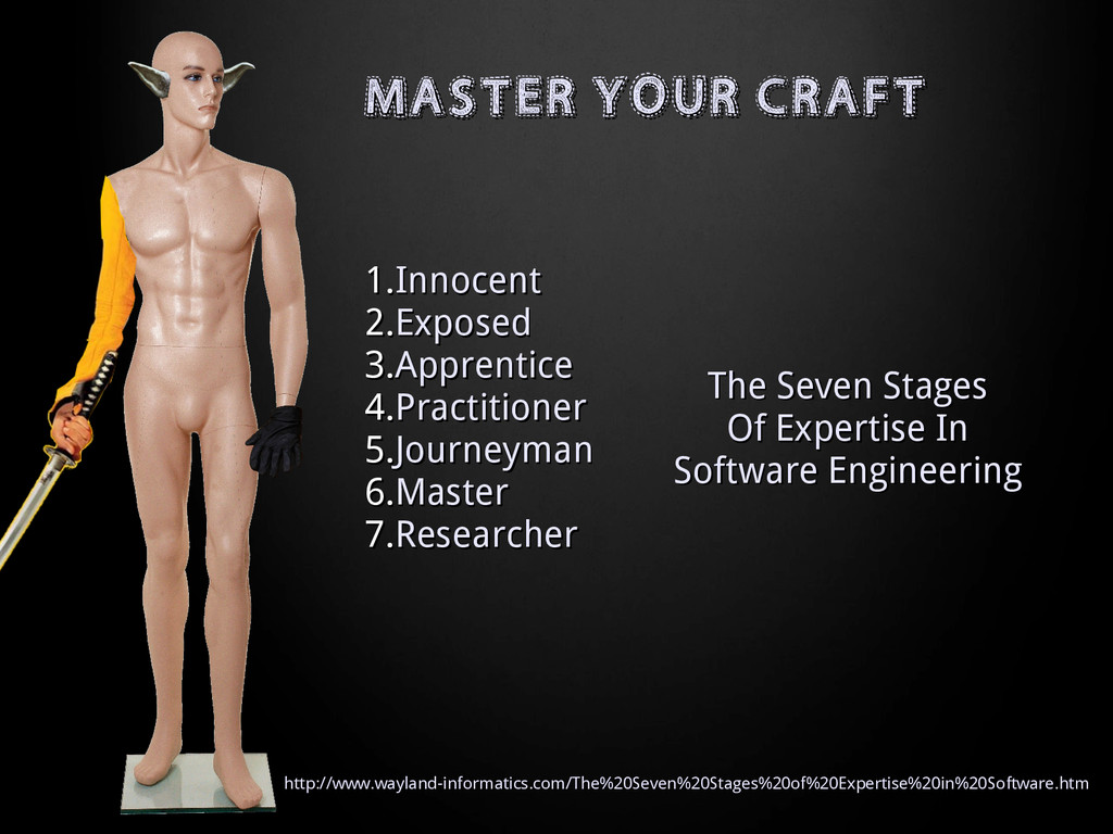 MASTER YOUR CRAFT MASTER YOUR CRAFT 1. 1.Innoce...