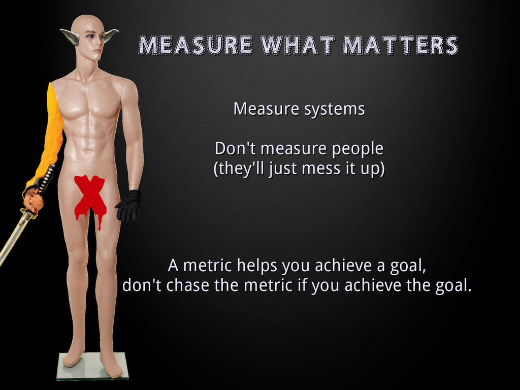 MEASURE WHAT MATTERS MEASURE WHAT MATTERS Measu...