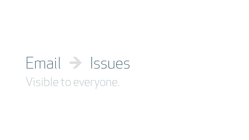 Email → Issues Visible to everyone.