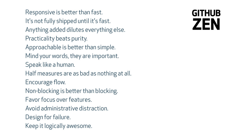 Responsive is better than fast. It's not fully ...