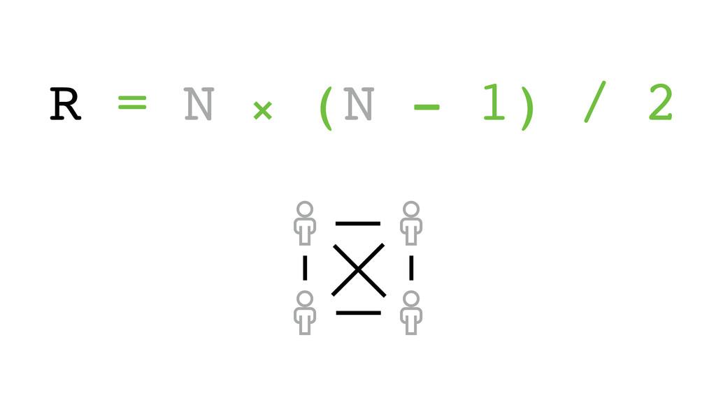 R = N ⨯ (N - 1) / 2 ! ! ! !