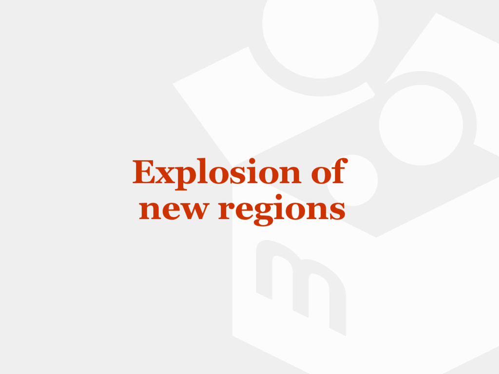 Explosion of new regions