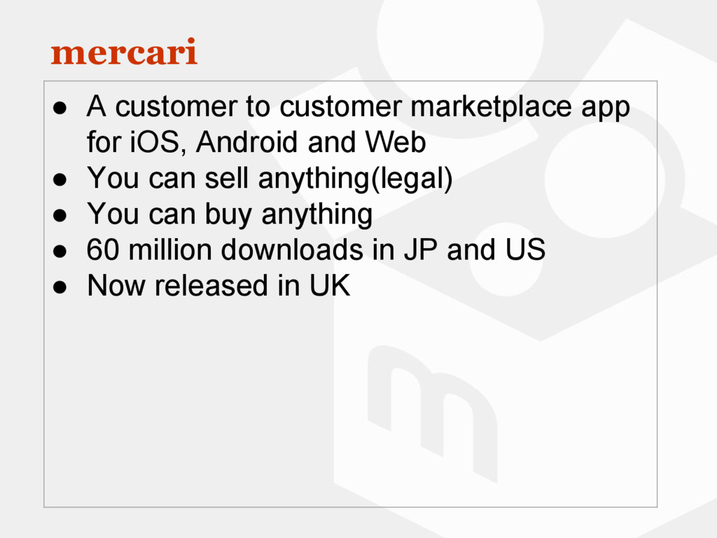mercari ● A customer to customer marketplace ap...
