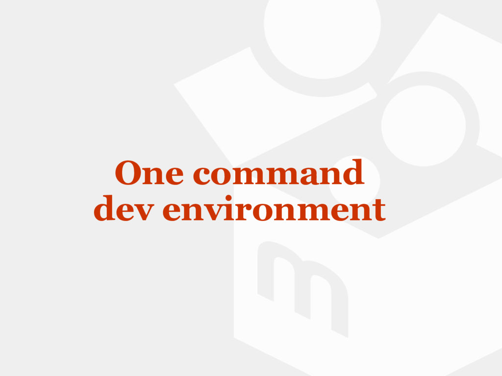 One command dev environment